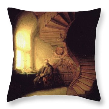The Philosopher In Meditation Throw Pillow