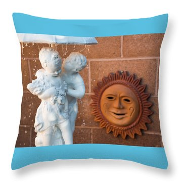 The Phoenician Lovers Throw Pillow