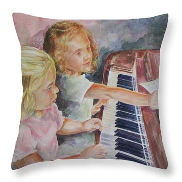 The Piano Lesson Throw Pillow