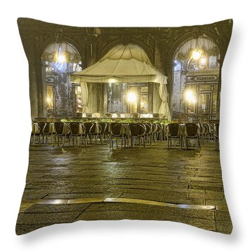 The Piazza Venice Throw Pillow by Graham Hawcroft pixsellpix