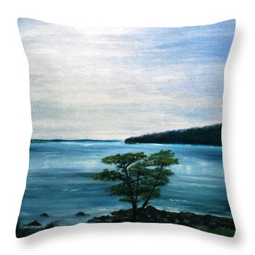 The Picnic Area Throw Pillow