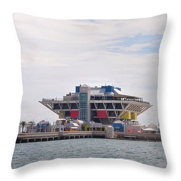 The Pier At St Petersburg Throw Pillow by Bill Cannon
