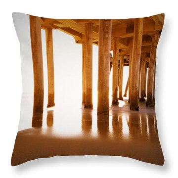The Pier Throw Pillow by Heidi Smith