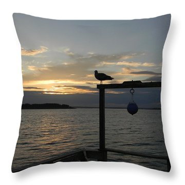 The Pier Throw Pillow by Jean Goodwin Brooks