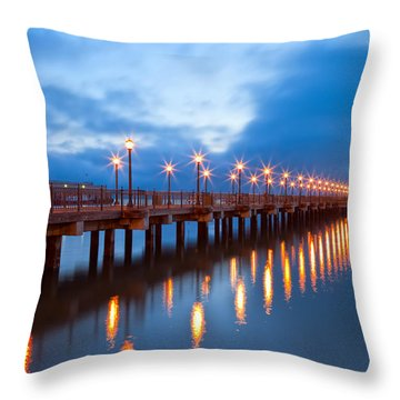 Throw Pillow featuring the photograph The Pier by Jonathan Nguyen