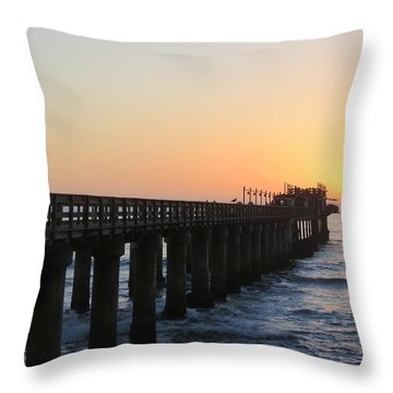 Throw Pillow featuring the photograph The Pier by Ramona Johnston
