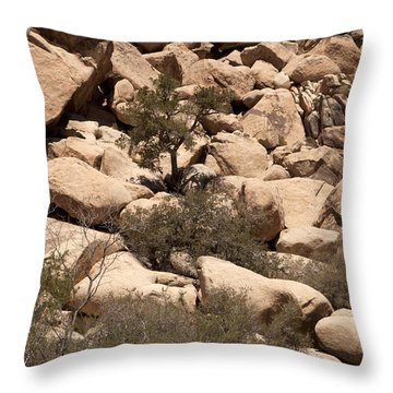 The Pile Is Home Throw Pillow by Amanda Barcon
