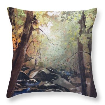 The Pilgrimage Throw Pillow by Kris Parins