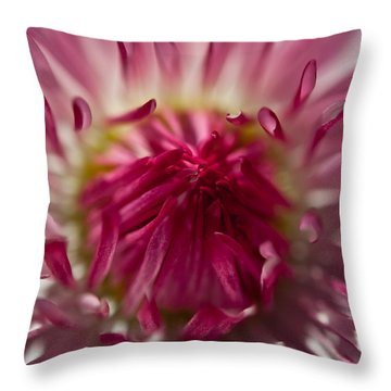 The Pink Center Throw Pillow by Sabine Edrissi
