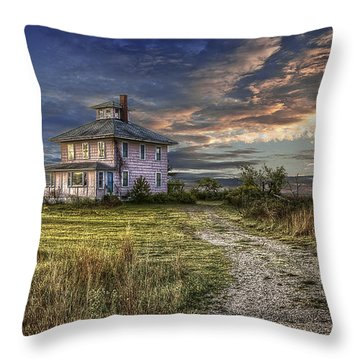 The Pink House - Color Throw Pillow