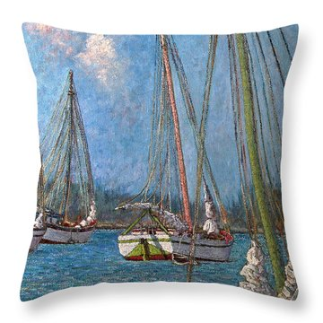 The Pink Mast Throw Pillow