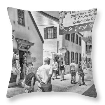 Throw Pillow featuring the photograph The Pink Petunia by Howard Salmon