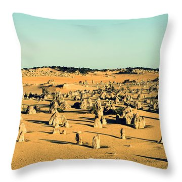 The Pinnacles Australia Throw Pillow by Yew Kwang