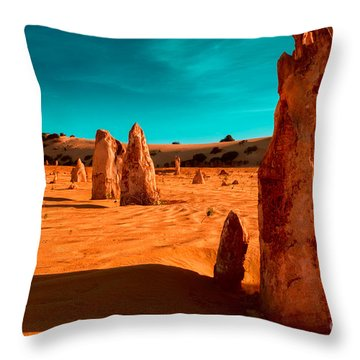 The Pinnacles Throw Pillow