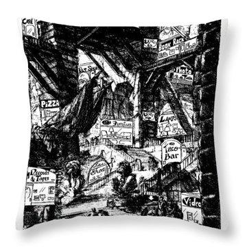 The Piranesi Mall Throw Pillow