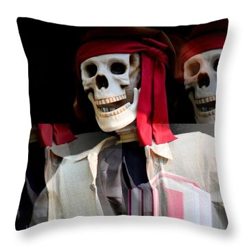 The Pirate's Ghost Throw Pillow by Maria Urso