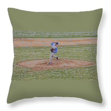 The Pitcher Digital Art Throw Pillow by Thomas Woolworth