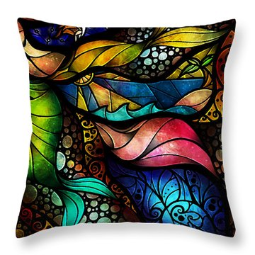 The Place Between Sleep And Awake Throw Pillow