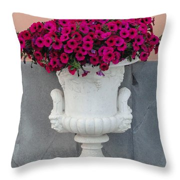 Throw Pillow featuring the photograph The Planter by Natalie Ortiz