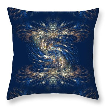 Throw Pillow featuring the digital art The Playground In My Mind 3 - Abstract Fantasy Art By Giada Rossi by Giada Rossi