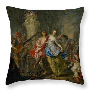 The Pleasures Of The Seasons     Spring Throw Pillow by Johann Georg Platzer