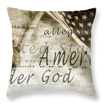 The Pledge Of Allegiance And An Throw Pillow