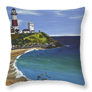 The Point Throw Pillow by Donna Blossom