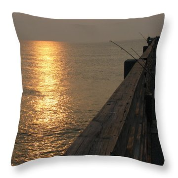 The Pole Throw Pillow by Greg Patzer
