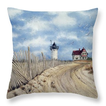 The Pole Line To Race Point Light Throw Pillow