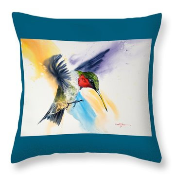 Da170 The Pollinator Daniel Adams Throw Pillow