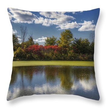 The Pond In Autumn Throw Pillow