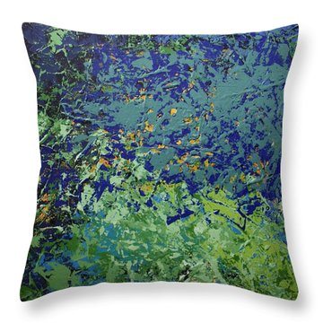 The Pond Throw Pillow by Linda Bailey