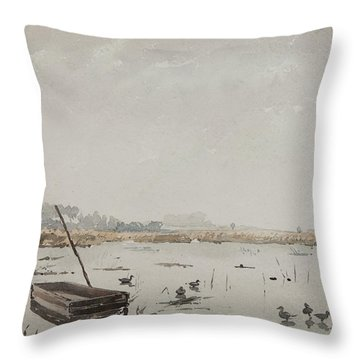 The Pond  Throw Pillow by Henri Duhem