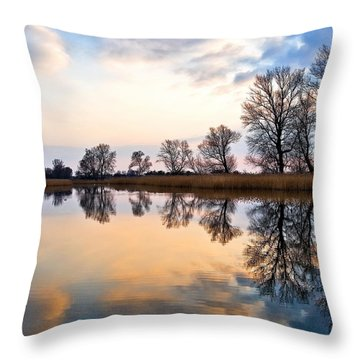 Ponds In Lomna Throw Pillow