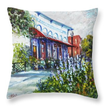 The Popcorn Shop In Chagrin Falls Oh Throw Pillow