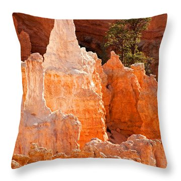 The Pope Sunrise Point Bryce Canyon National Park Throw Pillow