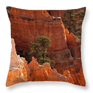 The Popesunrise Point Bryce Canyon National Park Throw Pillow
