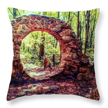 The Portal To Love Life Peace 1 Throw Pillow