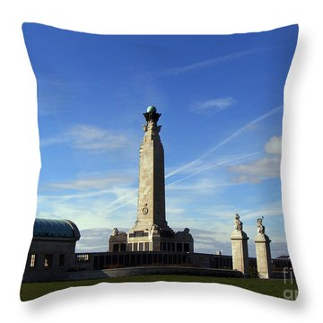 The Portsmouth Naval Memorial Southsea Throw Pillow by Terri Waters