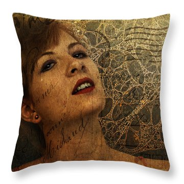 The Postcard Throw Pillow