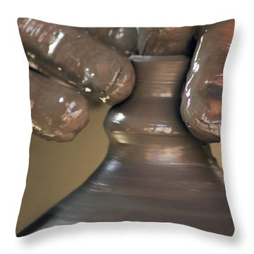The Pot Thrower #1 Throw Pillow by Nola Lee Kelsey