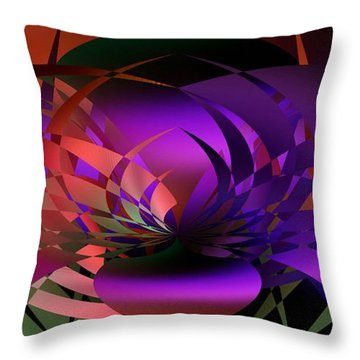 Throw Pillow featuring the digital art the Potted Plant by rd Erickson