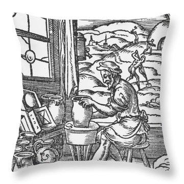 Potters Wheel Throw Pillows