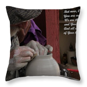 The Potter's Hand Throw Pillow