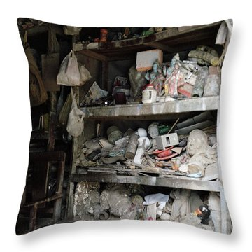 The Potter's Workshop Throw Pillow by Shaun Higson
