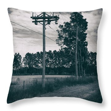The Power Lines  Throw Pillow by Howard Salmon