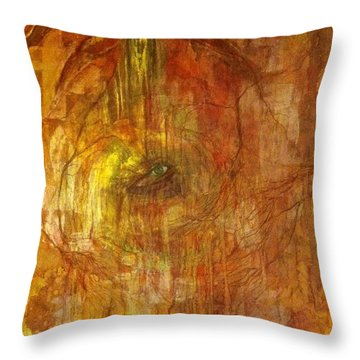 Throw Pillow featuring the painting The Power Of Love by Delona Seserman
