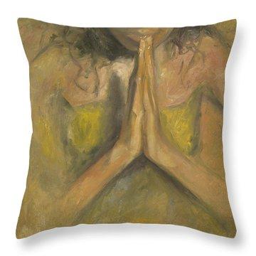 The Power Of Prayer - Blind Faith Throw Pillow