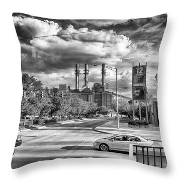 Throw Pillow featuring the photograph The Power Station by Howard Salmon