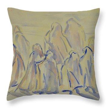 The Prayers...ii Throw Pillow by Xueling Zou